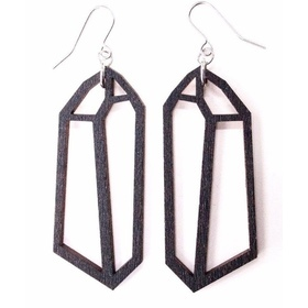 Crystal Earrings- Black
