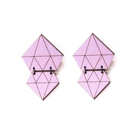 Diamonds Earrings-Amethyst