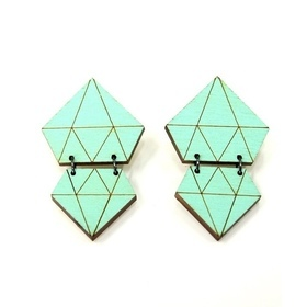 Diamonds Earrings-Jade