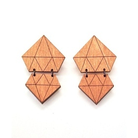 Diamonds Earrings- Copper