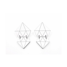Diamonds Earrings- White