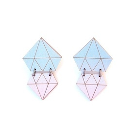 Diamonds earrings- Lagoon
