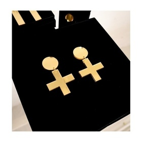 Gold Mirror Cross