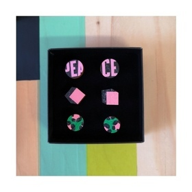 Mini stud set PEACE BOX PANTHER