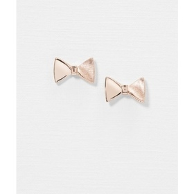 TAYAL:TUX BOW STUD EARRING, ROSEGOLD