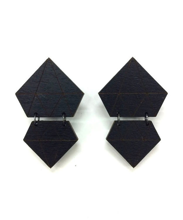 Diamonds Earrings- Black
