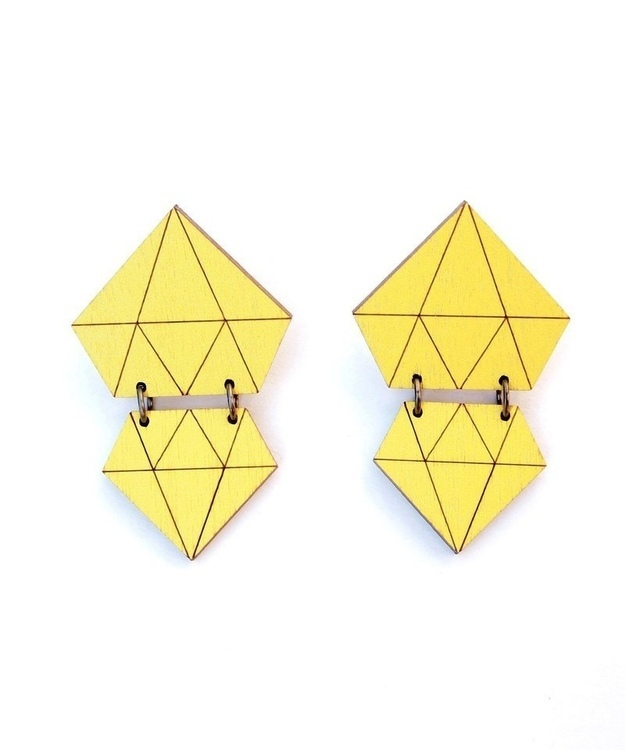 Diamonds earrings- Neon